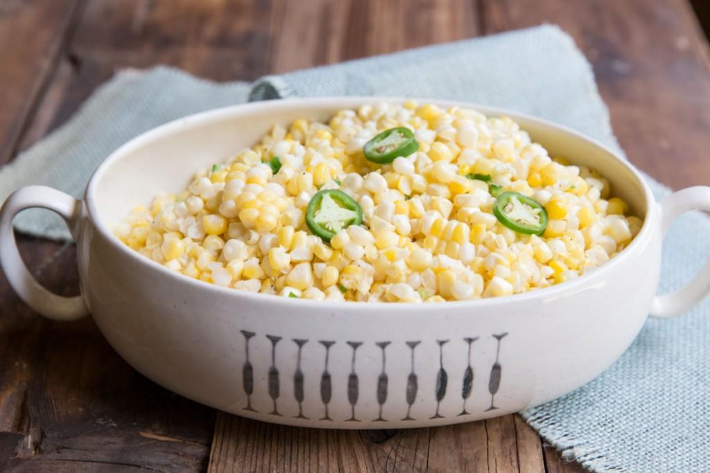 coconut creamed corn recipe • theVintageMixer.com #cornrecipe #glutenfree #dairyfree #summerrecipe