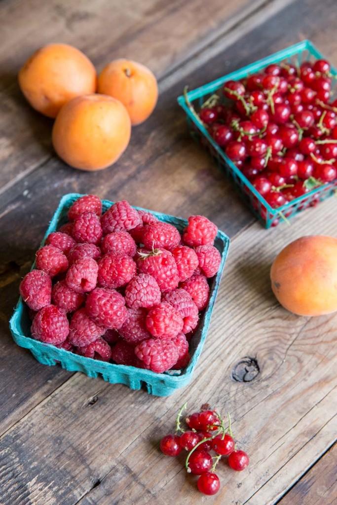 raspberry apricot galette recipe •theVintageMixer.com #galette #fruitrecipe #dessert