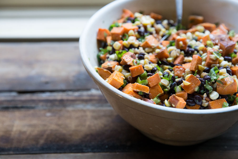 Sweet potato black bean and corn salad recipe