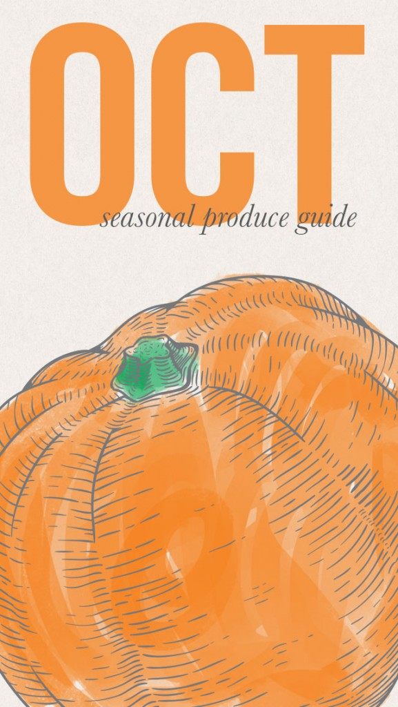 October Seasonal Produce Guide • theVintageMixer.com #eatseasonal