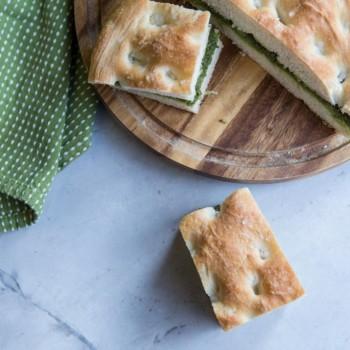 Pesto Filled Focaccia Bread