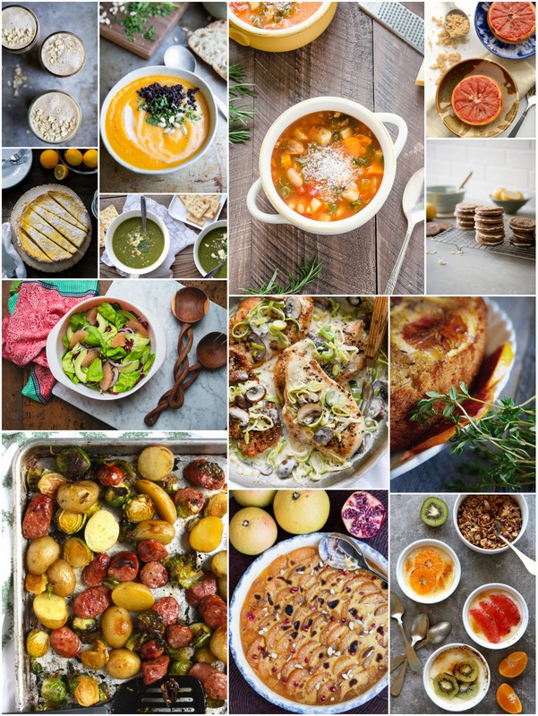 Seasonal Recipes for January •theVintageMixer.com #eatseasonal #healthyeating #cleaneating