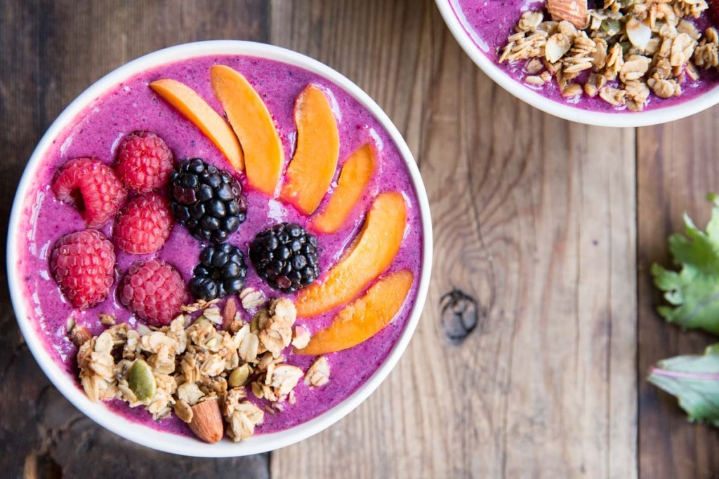 Berry Beet and Kale Smoothie Bowls