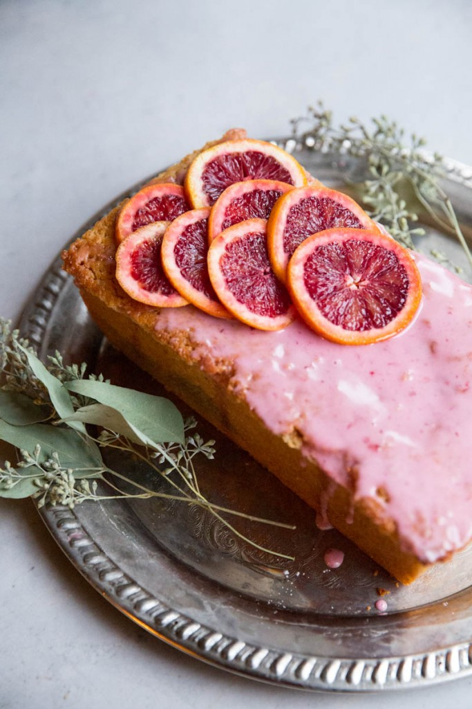 Blood Orange Olive Oil Cake • theVintageMixer.com #bloodoranges #cake #healthyrecipe #cleaneating #valentinesrecipe
