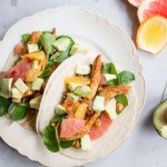 Chicken and Chickpea Tacos with Citrus and Avocado Salsa