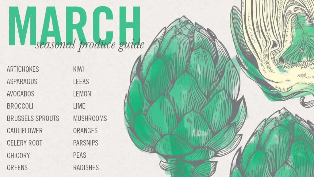 March Seasonal Produce Guide • theVintageMixer.com #eatseasonal