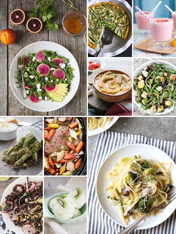 March Eat Seasonal Recipes • theVintageMixer.com #eatseasonal