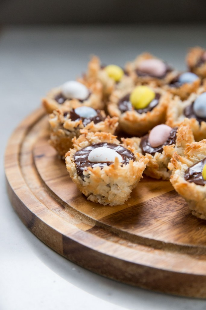 Coconut Macaroon Nests for Easter • theVintageMixer.com #easterecipe