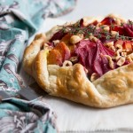 Beet, Goat Cheese, and Hazelnut Galette