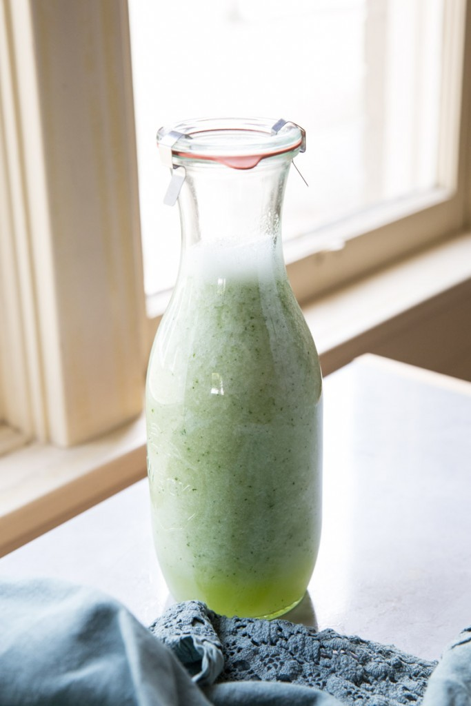 Melon Coolers • theVintageMixer.com #drinkrecipe #melonrecipe #canarymelon