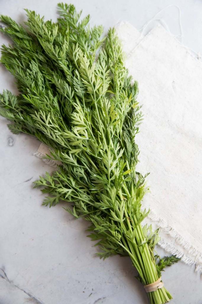 Carrot Top Vinaigrette • theVintageMixer.com #healthyrecipe #quinoarecipe