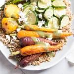 Quinoa and Lentils with Roasted Veggies • theVintageMixer.com #healthyrecipe #quinoarecipe