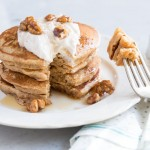 Carrot Cake Pancake Recipe with Whipped Ricotta