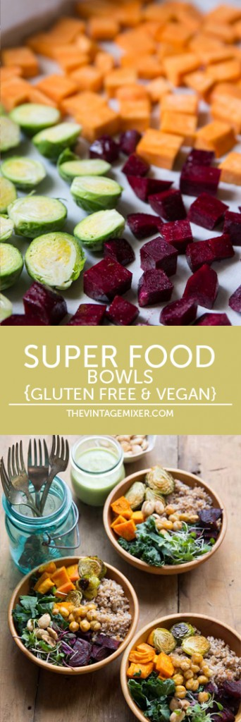 Super Food Bowls Recipe • theVintageMixer.com #superfoodbowls #superfood #vegan #glutenfree