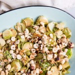 Sautéed Brussels Sprouts with Hazelnuts