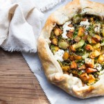 Butternut Squash and Brussels Sprout Galette with Goat Cheese