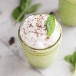Healthy Vegan Shamrock Shakes