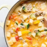 Sweet Potato Apple Turkey Chili Recipe from My Sweet Basil Kitchen Cookbook