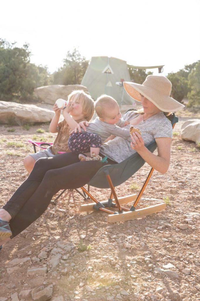 Camping in a Southern Utah