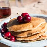 You're going to want these hearty pancakes loaded with fresh fruit and nuts for your next camping trip.