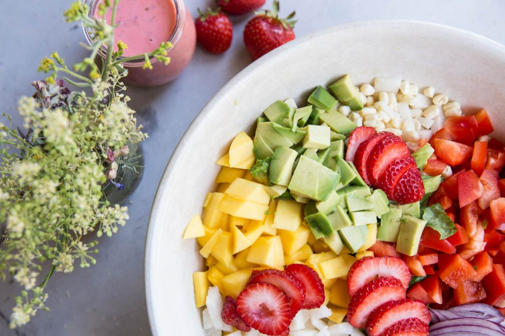 All of your Summer Salad dreams come true in this Strawberry Lime Chop Salad