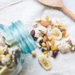Make your own trail mix with a few healthy ingredients!