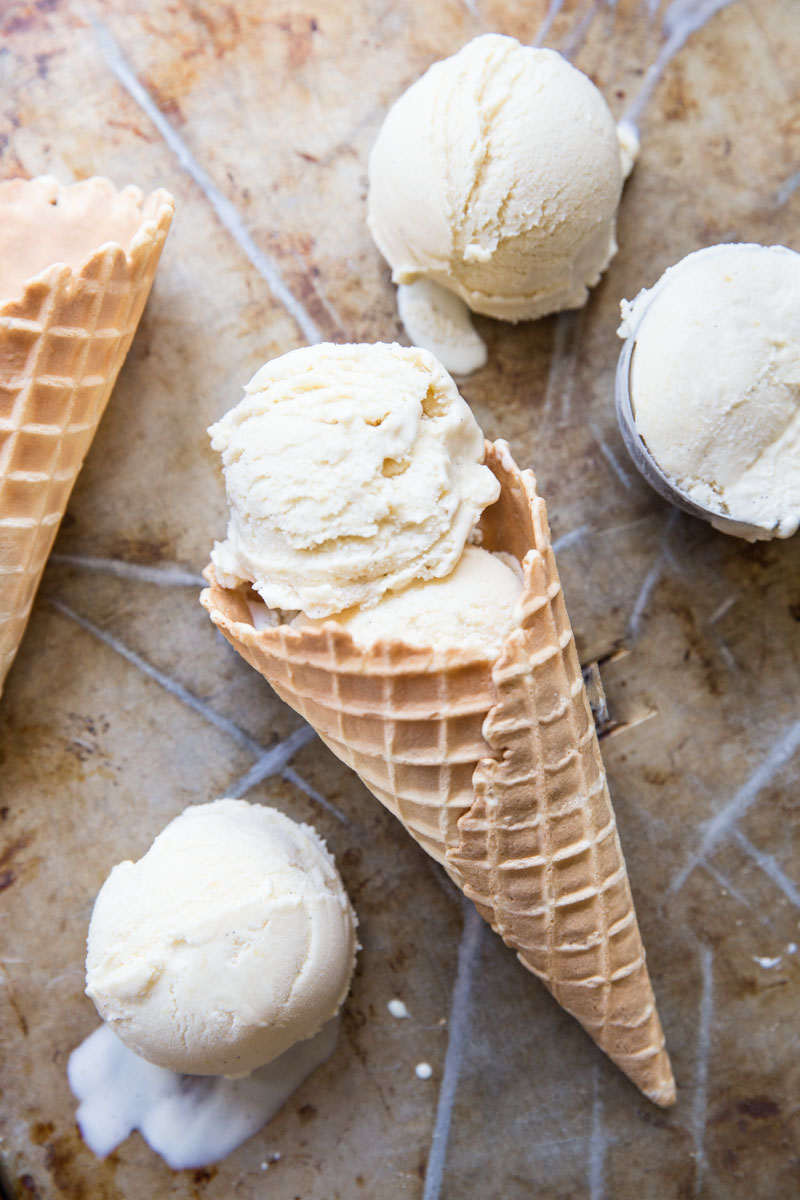 Making Vanilla Bean Ice Cream at home is easy and so much better than the store bought kind.