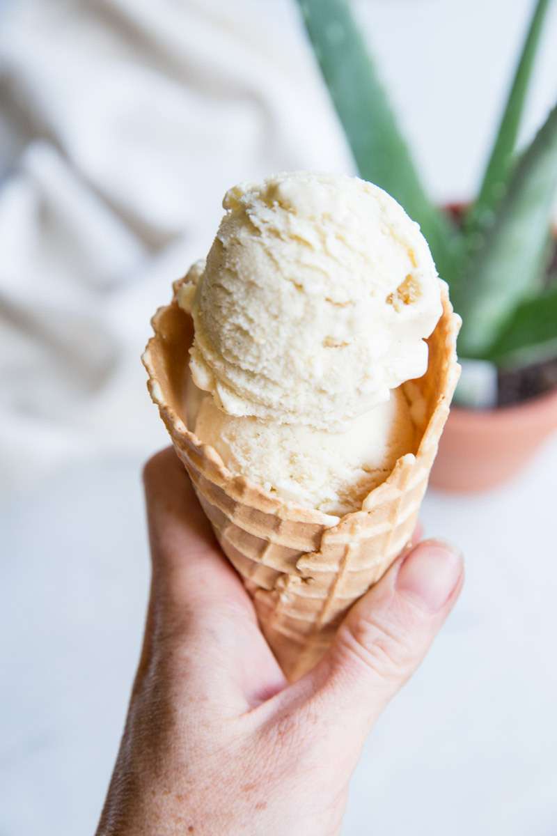 We make this homemade vanilla bean ice cream all Summer long!