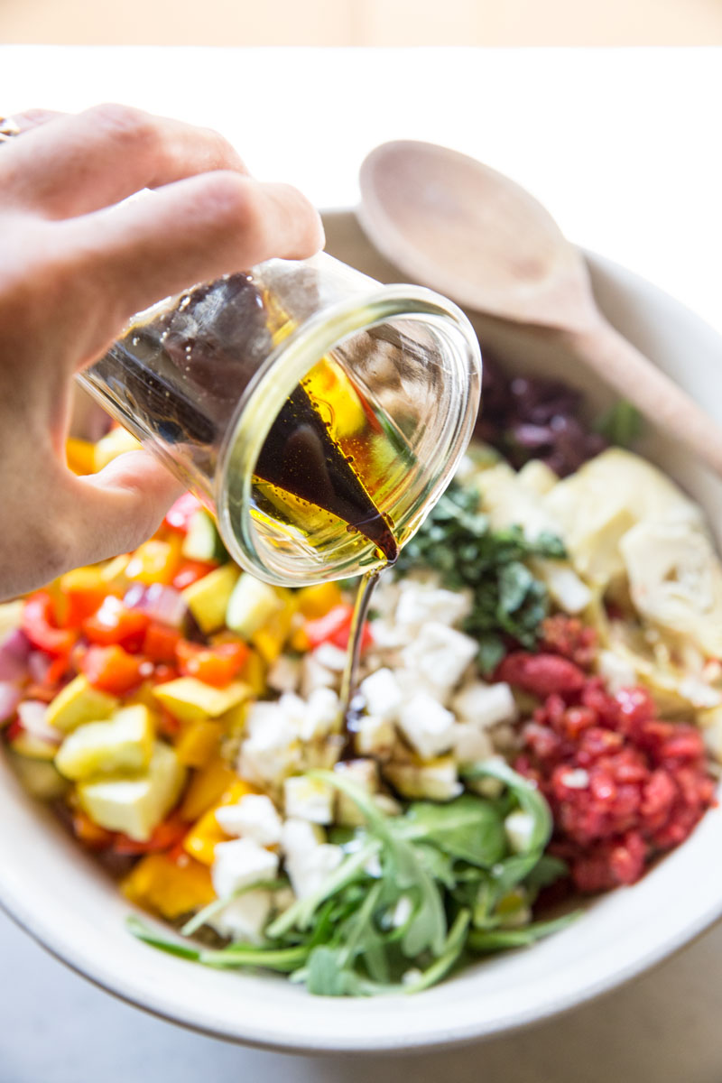 This Simple Balsamic Vinaigrette is all you need to dress this Quinoa Salad