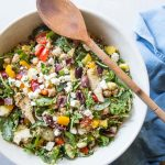 This Mediterranean Quinoa Salad Recipe is the perfect make ahead healthy lunch.