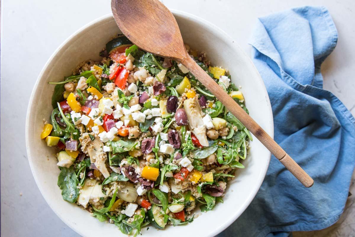 Mediterranean Quinoa Salad Vintage Mixer