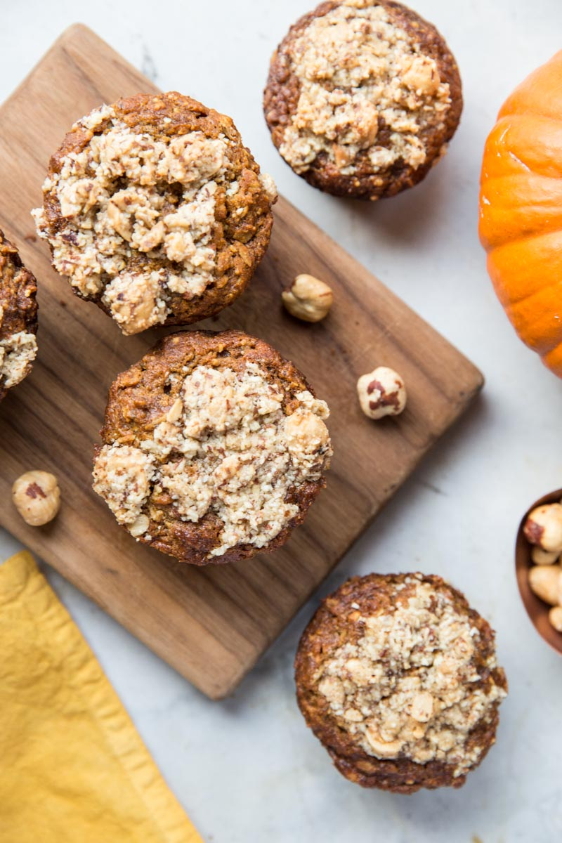 A Pumpkin Muffin that everyone will love. These Pumpkin Hazelnut Muffins are gluten free and vegan with low sugar.