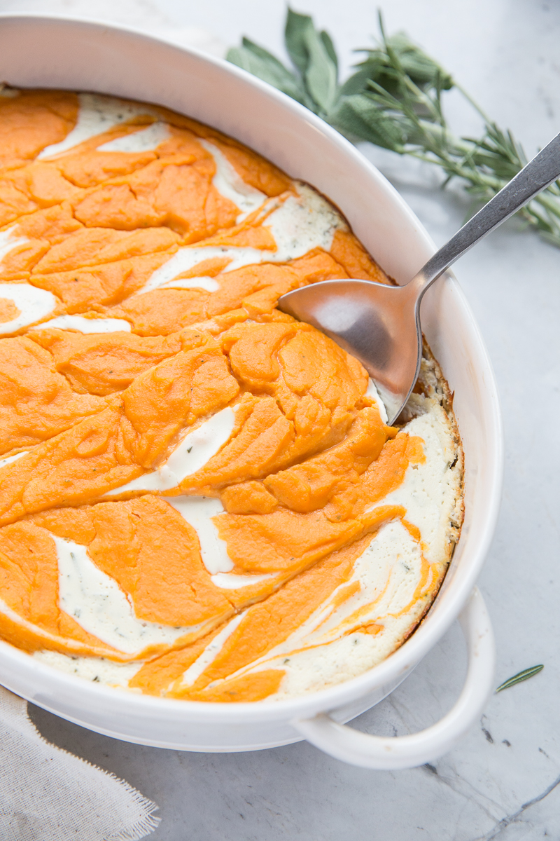 We served this Savory Sweet Potato Casserole for Thanksgiving and everyone loved it!