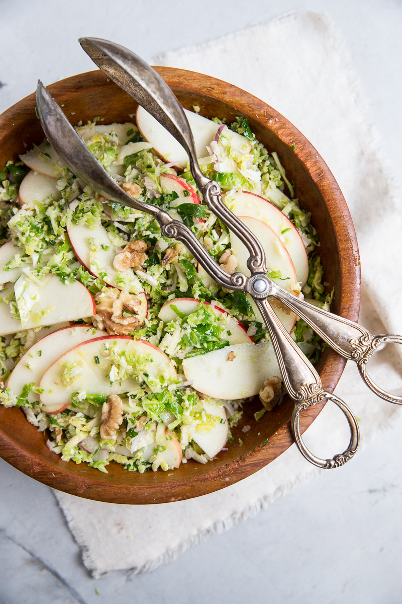 Everyone loves this winter salad so much you would never know you are eating raw shredded brussels sprouts.