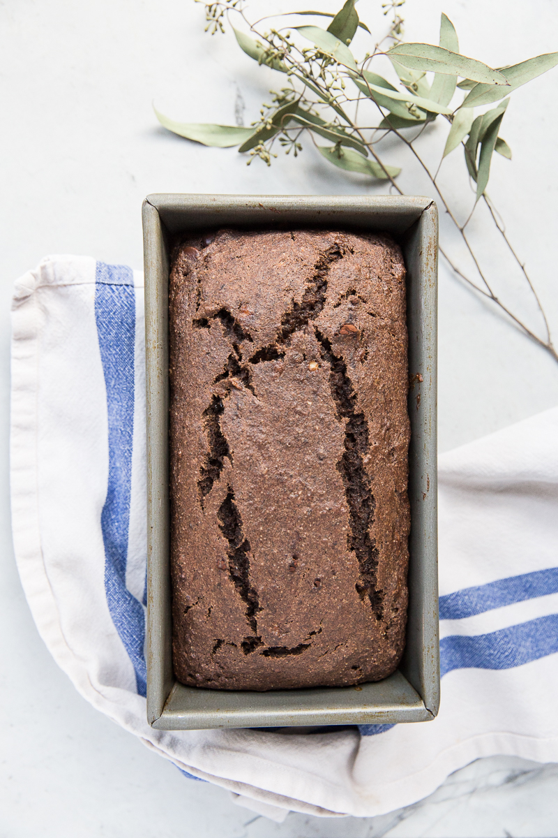 This gluten free chocolate banana bread recipe is easy to love!