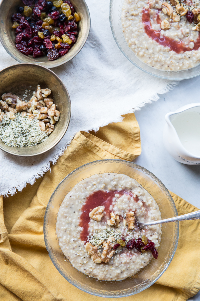 Here's an easy and super tasty recipe for Instant Pot Steel Cut Oats.