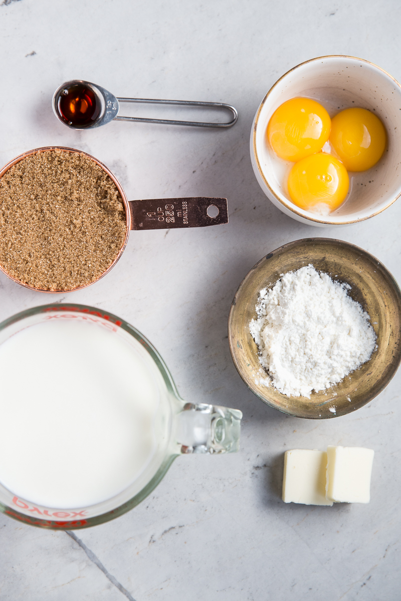 Here's all you need for making Homemade Butterscotch Pudding