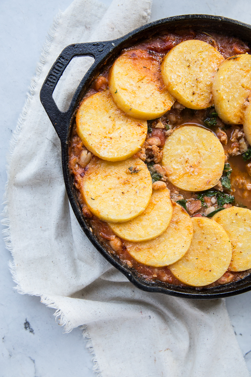 This gluten free Sausage, White Bean and Kale Cassoulet is the perfect Winter comfort food.