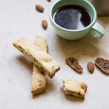 Almond flour is the perfect gluten free flour to make these healthy biscotti snacks.