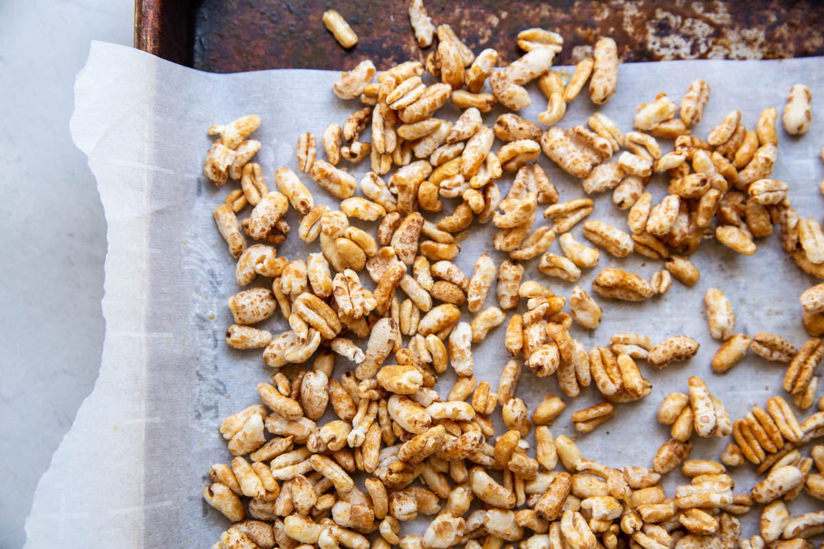 Toast up some puffed kamut with honey to make this Homemade Cereal Recipe
