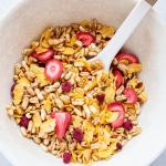 Make a big batch of this healthy homemade cereal recipe and it will last you for weeks!
