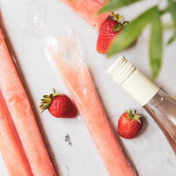 These Homemade Rosé wine popsicles are the biggest hit for Summer parties!