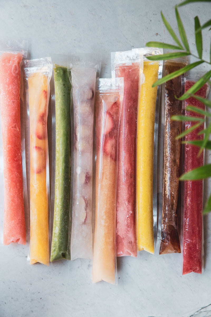 Tons of great ideas for making homemade freezer pops.