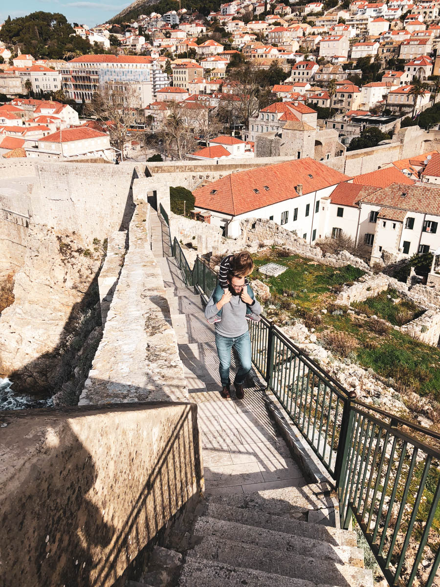 walking the city walls in Dubrovnik is a great kid-friendly activity