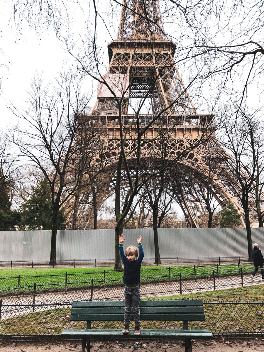 Visiting the Eiffel Tower with young kids