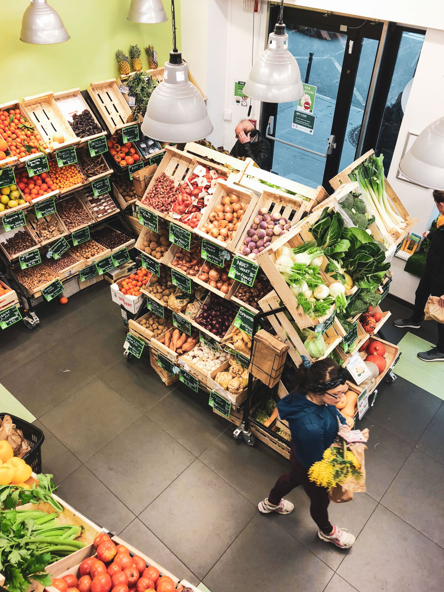 Best Paris grocery stores and markets for fresh and organic foods.