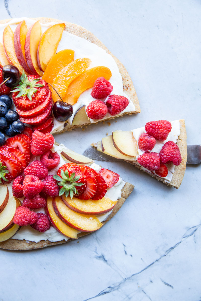 Love this healthy version of fruit pizza just as much as any of the classic recipes.