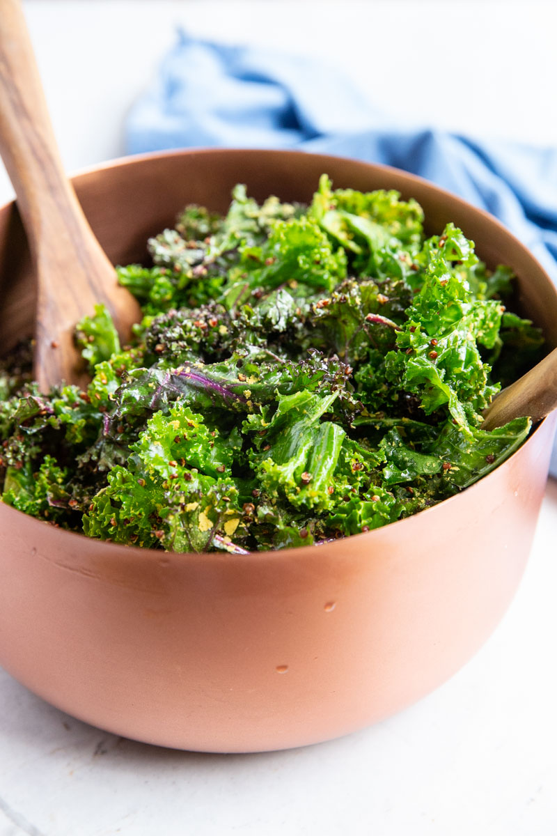 This restaurant style Kale Caesar Salad is an easy Vegan Recipe that vegans and non-vegans loves.