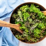 Vegan Kale Caesar Salad Recipe with Crispy Quinoa
