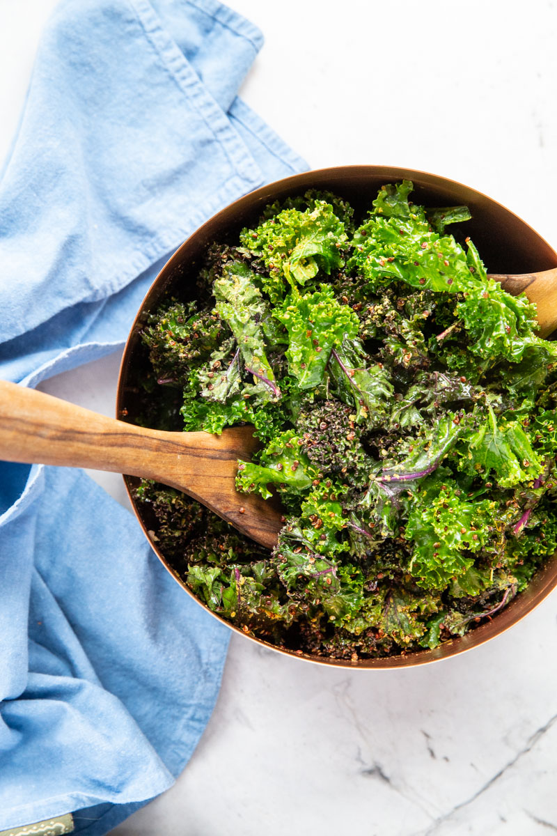 Here's a kale salad to win over even those who don't love kale. This Vegan Kale Caesar is a MUST try.